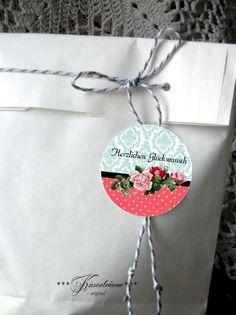 Pflanzen - Aufkleber, Etikett, Sticker - ein Designerstück von kissentraeume-original bei DaWanda