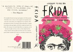Book cover design for the biography of Frida Kahlo. Wattpad Book Covers, Wattpad Books, Book Design Layout, Book Cover Design, Anne Frank, Book Cover Art, Book Art, Buch Design, Vintage Book Covers