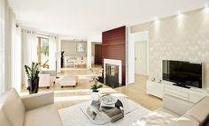Light Brown Living Room Design