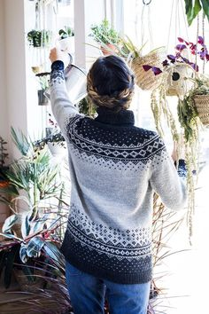 Ravelry: Rainier pattern by Kate Gagnon Osborn Sweater Knitting Patterns, Cardigan Pattern, Knitting Sweaters, Icelandic Sweaters, Thing 1, Fair Isle Knitting, Knitting Projects, Knit Crochet, Norwegian Knitting Designs