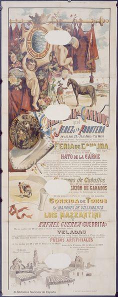 Cartel anunciador de la Feria de Jerez de la Frontera de 1897