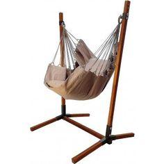 Hangstoel grijs met standaard