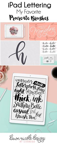 My Favorite iPad Lettering Brushes for Procreate | DawnNicoleDesigns...