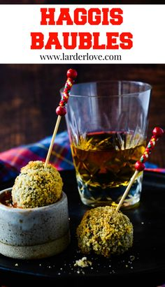 These super easy Haggis Baubles make a great addition to your Burns Night celebrations or New Year's Eve party, a wee taste of Scotland by larderlove Scottish Dishes, Scottish Recipes, Turkish Recipes, Romanian Food, Romanian Recipes, Haggis Recipe, Burns Supper, Chocolate Dipping Sauce, Oil For Deep Frying