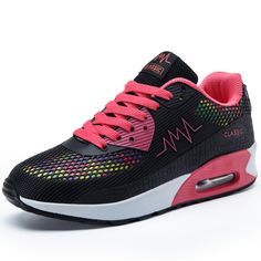 Hot Sale 2016 womens pink shoes Women Sport Trainers Breathable Sport Woman Shoes Casual Outdoor Walking Flats Zapatillas Mujer