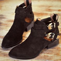 Jeffrey Campbell EVERLY's in Black Suede and Silver.