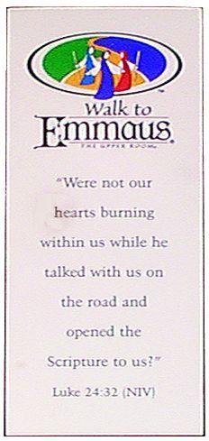 Walk To Emmaus Bookmark. Ga/Lina Walk #92