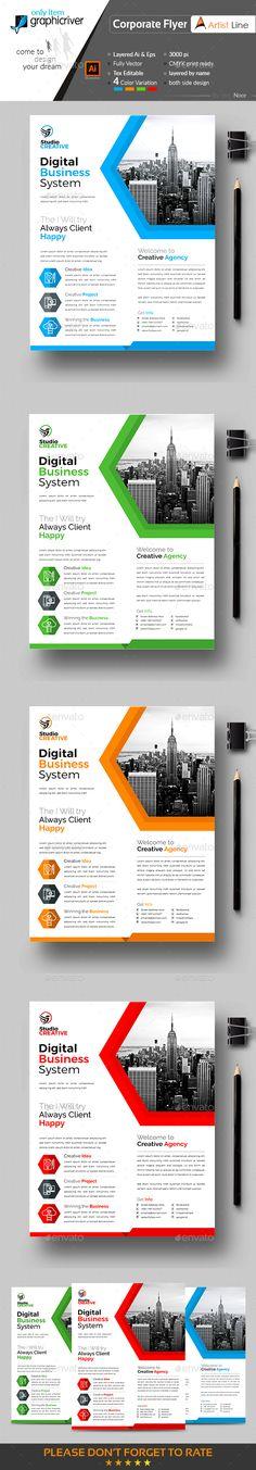Creative Business Flyer Template Vector EPS, AI Illustrator