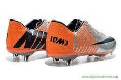 new concept 94d76 42b47 Futsal Shoes NIKE MERCURIAL VAPOR X Silver Black ORANGE FG