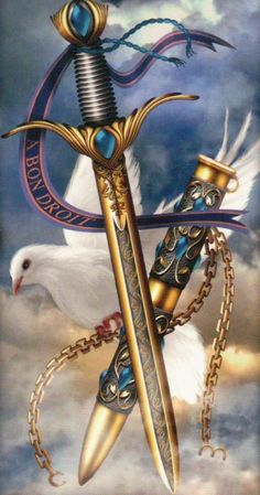 Ace of Swords by Ciro Marchetti (Gilded Tarot Royale)