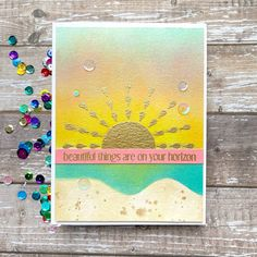 Sharp Designs: The Card Concept #138d- Sunset at the Shore Hey Gorgeous, Beautiful Sunset, Sunrise Background, Betty Wright, Summer Design, Summer Sunset, What Inspires You, Simon Says Stamp, Hero Arts