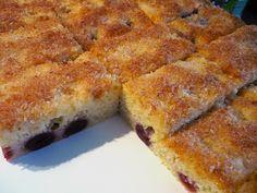 Buttermilch - Kokos - Kuchen mit Kirschen, ein sehr schönes Rezept aus der Kategorie Kuchen. Bewertungen: 38. Durchschnitt: Ø 4,4.