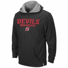 Reebok New Jersey Devils Black-Ash Home & Away Reversible Pullover Hoodie Sweatshirt