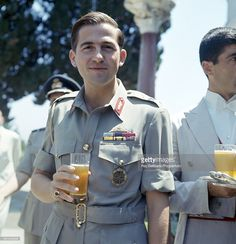 King Constantine of Greece during a reception at Mon Repos on Corfu,. Greek Royal Family, Danish Royal Family, Constantine Ii Of Greece, Anne Maria, Greece History, Greek Royalty, Greece Pictures, Royal Photography, Danish Royals