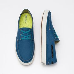 Tretorn Shoes   Otto Canvas Boat Shoes. Love the blue of these.