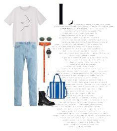 """X"" by masekennb on Polyvore featuring MANGO, A.P.C., Maison Margiela, Ray-Ban, Balenciaga, Rolex, MIANSAI, men's fashion and menswear"