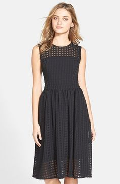 Donna Morgan Chiffon Fit & Flare Dress available at #Nordstrom