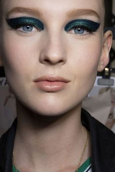 Versace Atelier Fall 2015, makeup by Pat McGrath