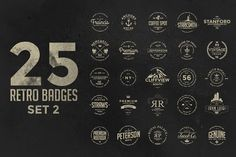 Retro Badges Set 2 by Zeppelin Graphics on Creative Market