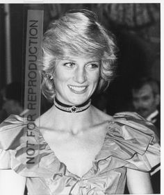 Princess Diana Looking Elegant in Jeweled Choker An Exhibit in 1983 at Sutton Place, Guildford, Surrey.