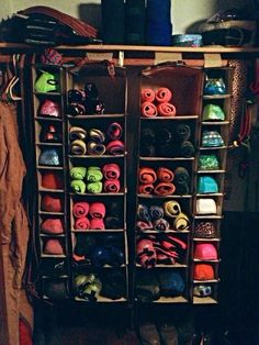Bell boots and medicine boot holder. I wish that I was this organized. #horses