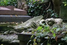 Highgate Cemetery in London, UK - The most famous cemeteries in the world Highgate Cemetery London, Angel Of The Morning, Cemetery Angels, Dead Beautiful, Photoshop Me, Angels Among Us, My Images, Garden Sculpture, Dark Side