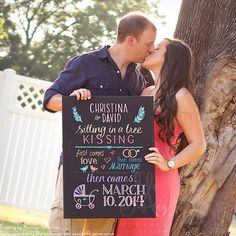 Pregnancy announcement 18 x 24 canvas custom by MoulageCollection, $78.00