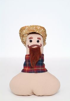 Excited to share the latest addition to my #etsy shop: Penis doll / funny gift / gag gift / adult toy / naked naughty / penis plush / Country/ mustache / beard / Bachelorette / bridal shower gift