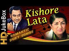 Watch all evergreen Hindi songs of Lata Mangeshkar & Kishore Kumar in this super hit non-stop jukebox! Hindi Bollywood Songs, Love Songs Hindi, Song Hindi, 90s Hit Songs, Movie Songs, 100 Songs, Romantic Love Song, Beautiful Songs, Kishore Kumar Songs