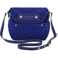 MARC by Marc Jacobs Preppy Nylon Mini Natasha Crossbody Bag, Deep Ultraviolet