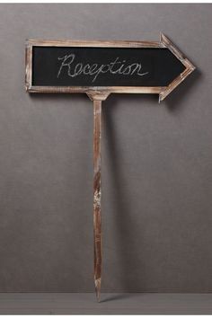 Reception sign.Blank Slate Sign in SHOP Décor Decorating at BHLDN