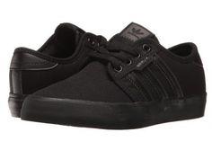 adidas Skateboarding - Seeley J (Little Kid/Big Kid) (Black/Black/Black) Skate Shoes