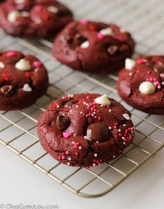 Red Velvet Cookies with Chocolate Chips