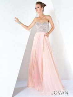 Pretty pink evening dress