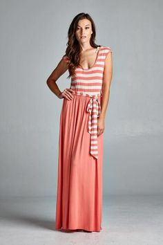 ab349460d71 Work For It Striped Maxi Dress