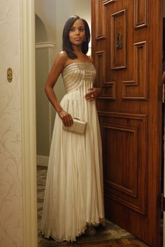 The flowing vintage gown that almost didn't happen. | Inside Olivia Pope's Closet