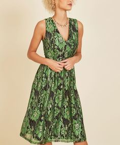 Emerald Occasion Elation Lace V-Neck Dress