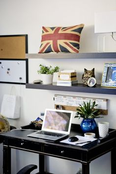 Small but stylish work space Hope and Pete's Bohemian Modern Abode