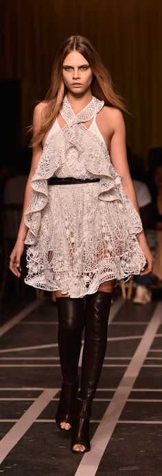 Cara Delevingne walked in Givenchy Spring 2015.
