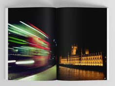 'London through the eyes of a designer' book // publication design // photography // London // lights