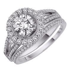 1.25 Ct Round Certified 14KW Diamond Engagement Ring  US $3,424.99