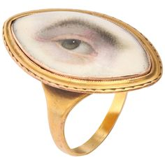 Very Rare Pristine Miniature of Male Lover's Eye  c.1780 | From a unique collection of vintage more rings at https://www.1stdibs.com/jewelry/rings/more-rings/