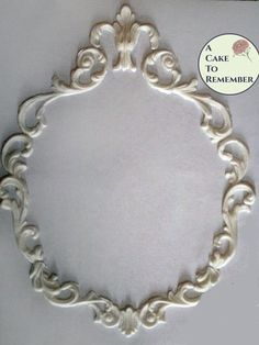 Scrollwork frame mold set or individual for cake decorating