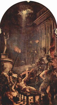 Tiziano - Il Martirio di San Lorenzo. Titian - Martyrdom of Saint Laurence. Church of Jesuits. Chiesa dei Gesuiti. Venice