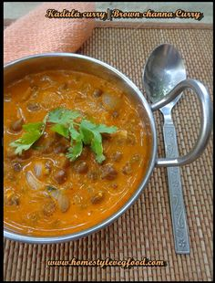 Simple and elegant kerala recipe - Brown channa curry or kadala curry - Well go with appam puttu and so as hot rice !