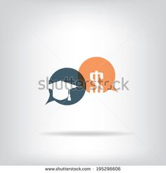 Expensive education concept with speech bubbles. Eps10 vector illustration. - stock vector