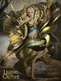 Artist: Svetlana Tigai aka tsvetka - Title: arwyn reg - Card: Arwyn, Spirit Dancer