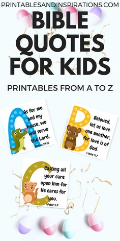 Alphabet memory verses for kids, bible quotes for kids, bible verses from a to Scriptures For Kids, Bible Verses For Kids, Bible Stories For Kids, Verses For Cards, Printable Bible Verses, Bible Lessons For Kids, Quotes For Kids, Printable Alphabet, Sunday Quotes