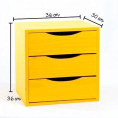 Nicho Gaveteiro Amarelo! - Tadah! Design