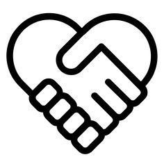 Handshake heart icon